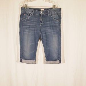 Hudson Denim Bermuda Style Cuffed shorts sz 31